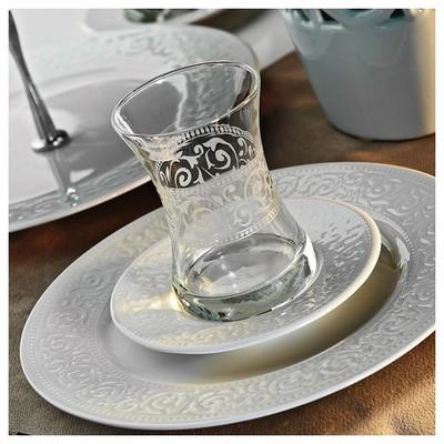 Kütahya Porselen Açelya 6 Kişilik Çay Takımı Çay Seti