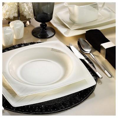 Kütahya Porselen Aliza Bone 83 Parça 65112 Desenli Yemek Takımı
