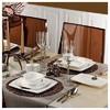 Kütahya Porselen Fileli Kare Bone 83 Parça 60106 Desenli Yemek Takımı