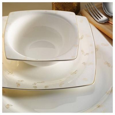Kütahya Porselen Aliza Bone 83 Parça 65119 Desenli Yemek Takımı