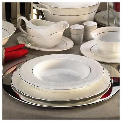 Kütahya Porselen Aspendos 84 Parça 25150 Desenli Yemek Takımı Tabak