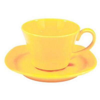 Naturaceram Natura Ceram Asya Sarı Çay Fincanı Tabaklı Çay Seti