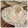 Kütahya Porselen 25133 Bone China 84 Parça Desenli Yemek Takımı