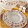 Kütahya Porselen Bone China 84 Parça 25136 Desenli Yemek Takımı