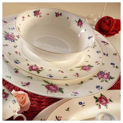 Kütahya Porselen Bone China 84 Parça 25140 Desenli Yemek Takımı