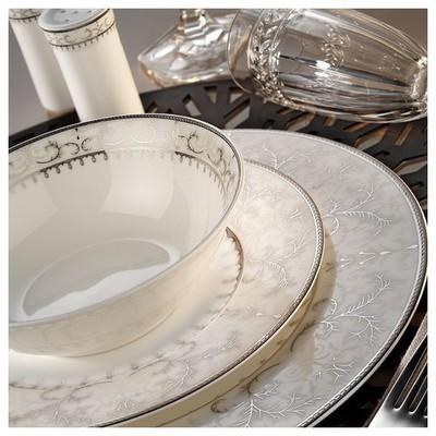 Kütahya Porselen Bone China 84 Parça 25141 Desenli Yemek Takımı