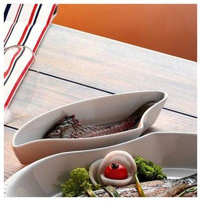 Kütahya Porselen Balık Serisi Kılçık Tabağı Tabak