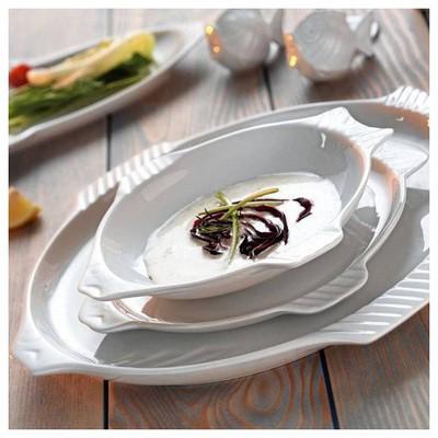 Kütahya Porselen Balık 24 Cm Tabak