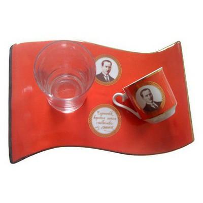 Kütahya Porselen El Yapımı Bayrak Türk Kahve Takımı Çay Seti