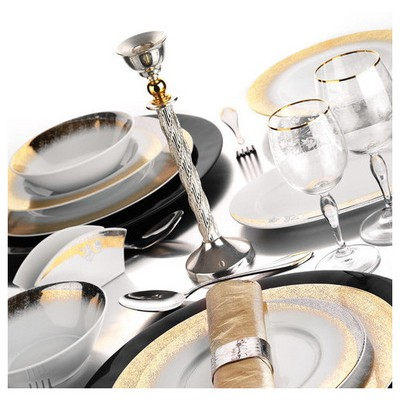 Kütahya Porselen Iris 87 Parça 4700 Desen Yemek Takımı