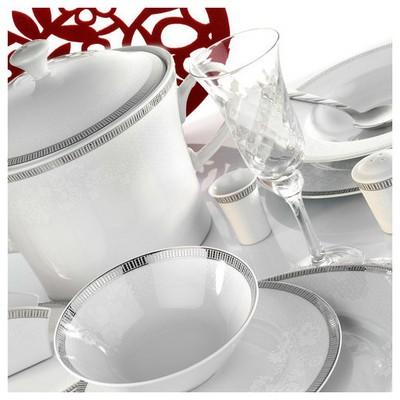 Kütahya Porselen Iris 97 Parça 514620 Desen Yemek Takımı