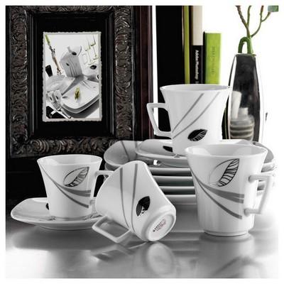 Kütahya Porselen Medusa 12 Parça 4489 Desen Çay Takımı Çay Seti
