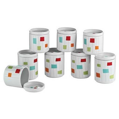 Kütahya Porselen Porselen Baharat Takımı 7 Sofra Gereçleri