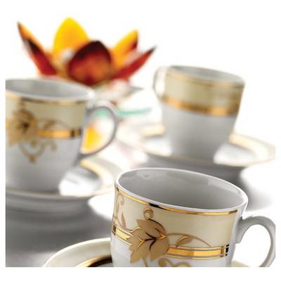 Kütahya Porselen Corner Collection 12 Parça 3210 Desen Çay Takımı Çay Seti