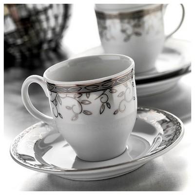 Kütahya Porselen Corner Collection 12 Parça 8511 Desen Çay Takımı Çay Seti