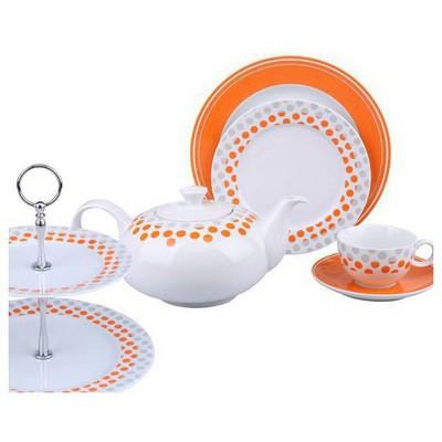 Kütahya Porselen 6 Kişilik 24 Parça Kurabiyelikli 5844 Ikram Takımı Çay Seti