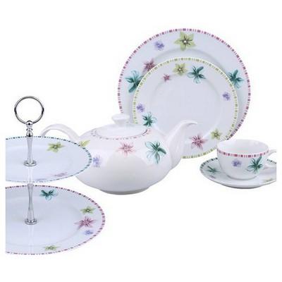 Kütahya Porselen 6 Kişilik 24 Parça Kurabiyelikli 6700 Ikram Takımı Çay Seti