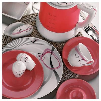 Kütahya Porselen Yasemin 44 Parça 5208 Desen Kahvaltı Takımı Yemek Takımı