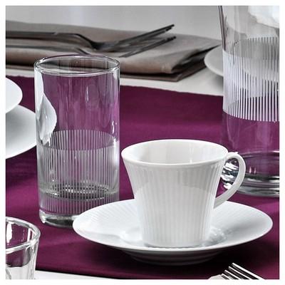 Kütahya Porselen Cisil 2 Kişilik Su Bardaklı Kahve Fincan Takımı Çay Seti