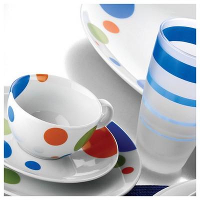 Kütahya Porselen Zeugma 12 Parça 46381 Desen Kahve Takımı Çay Seti