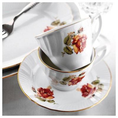 Kütahya Porselen Diana Güllü Çay Takımı Çay Seti