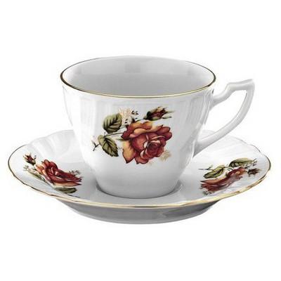Kütahya Porselen Diana Güllü Kahve Takımı Çay Seti