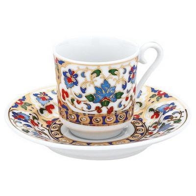 Kütahya Porselen 3701 Desen Kahve Fincan Takımı Çay Seti