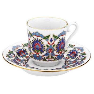 Kütahya Porselen 3644 Desen Kahve Fincan Takımı Çay Seti