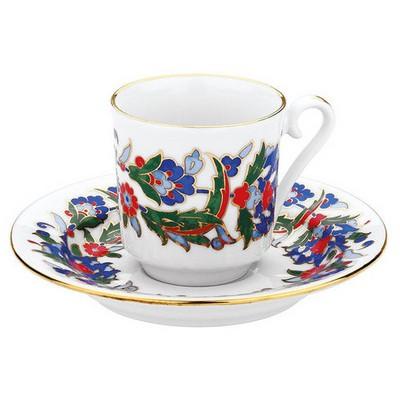 Kütahya Porselen 458 Desen Kahve Fincan Takımı Çay Seti