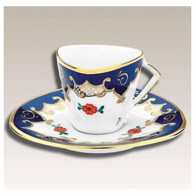 Kütahya Porselen Hediye Lacivert Kahve Fincan Takımı Çay Seti