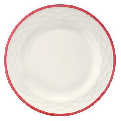 Naturaceram Hasır Kırmızı Fileli Pasta Tabağı Tabak