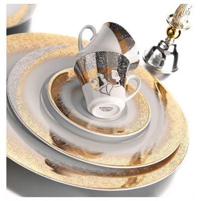 Kütahya Porselen Iris 12 Parça 4700 Desen Kahve Takımı Çay Seti