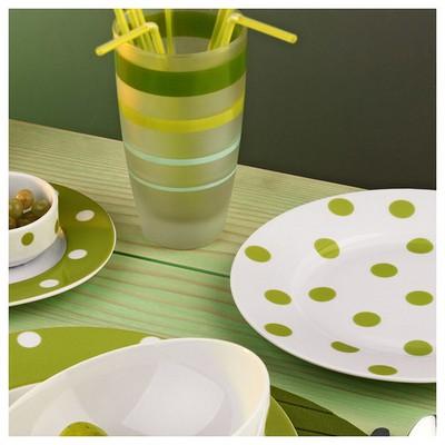 Kütahya Porselen 21 Cm Düz  Yeşil Tabak