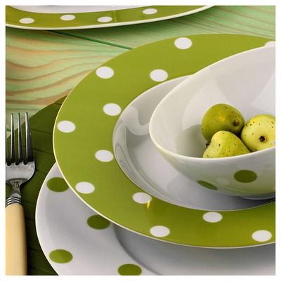 Kütahya Porselen 23 Cm Çukur  Yeşil Tabak