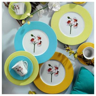 Kütahya Porselen Iris 24 Parça 6 Kişilik 7011 Dekor Orkide Ikram Seti Çay Seti