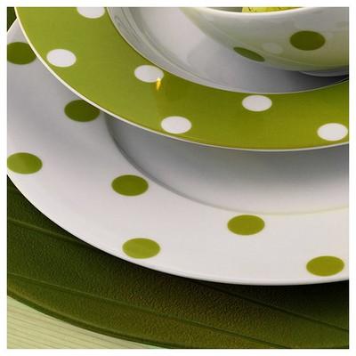 Kütahya Porselen 27 Cm Düz  Yeşil Tabak