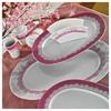 Kütahya Porselen Iris 87 Parça 7088 Desen Yemek Takımı