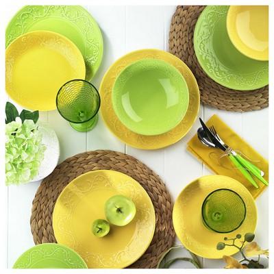 Naturaceram Ivy Servis Tabağı Yeşil Küçük Mutfak Gereçleri