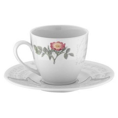 Kütahya Porselen Leonberg 8466 Desen Çay Fincanı Tabaklı Çay Seti