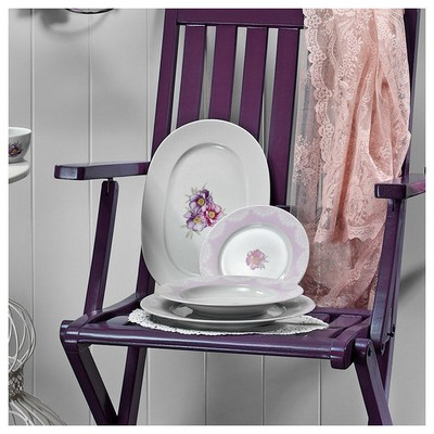 Kütahya Porselen Leonberg 8435 Desen 32 Cm Kayık Tabak