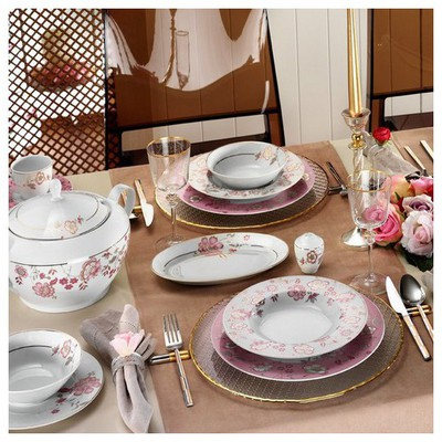 Kütahya Porselen 12 Kişilik 83 Parça 8579 Desenli Yemek Takımı Tabak