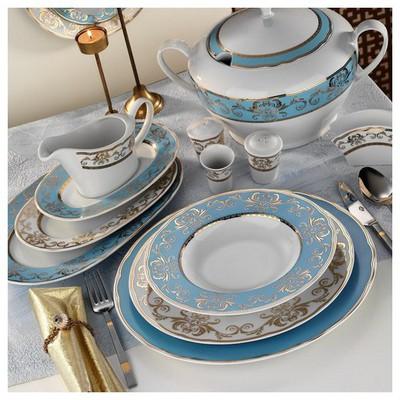 Kütahya Porselen Iris 12 Kişilik 97 Parça 6914 Desen Yemek Takımı