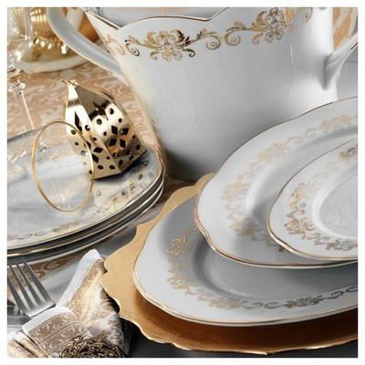 Kütahya Porselen Lindos 83 Parça 8580 Desen Yemek Takımı