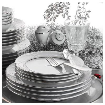 Kütahya Porselen Lalezar 85 Parça Platinli Yemek Takımı