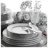 Kütahya Porselen Lalezar 85 Parça Platin Fileli Yemek Takımı