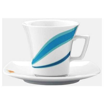 Kütahya Porselen Marine Serisi 5338 Desen Çay Fincanı Tabaklı Çay Seti