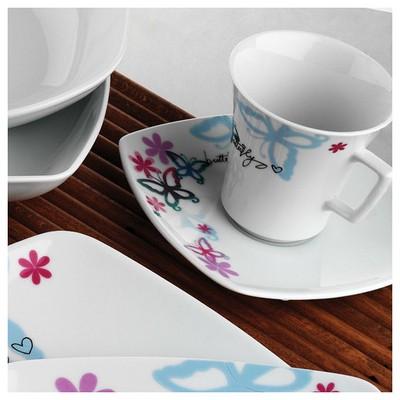 Kütahya Porselen Medusa 12 Parça 6711 Desen Çay Takımı Çay Seti
