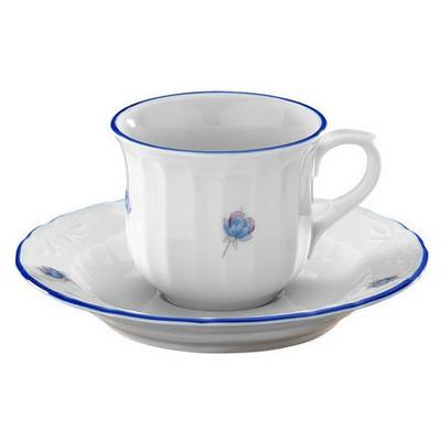 Kütahya Porselen Mina Mavi Kahve Takımı Çay Seti