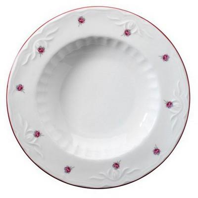 Kütahya Porselen Mina Pembe Yemek Tabağı Tabak