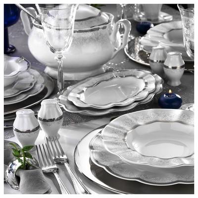 Kütahya Porselen Nil 83 Parça 6274320 Desen Yemek Takımı